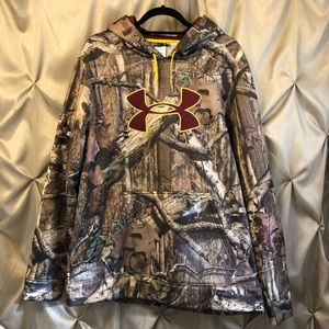 Under Armour x Mossy Oak Camo Hoodie Large NWT
